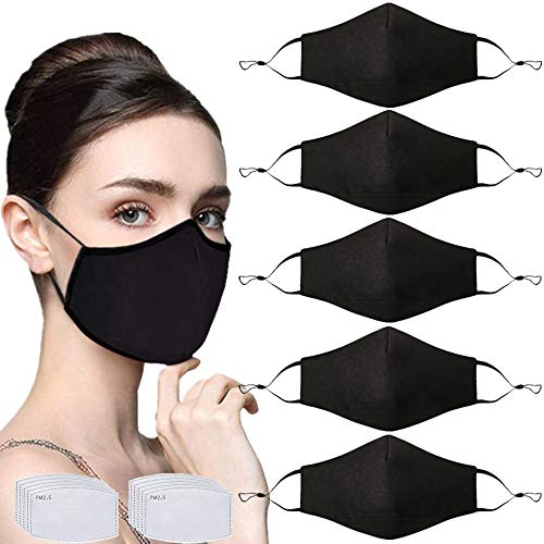 6PCS Unisex Particulate Filter,Washable Filter,Dustproof,Breathable,Anti-Haze Dust Women Face Reusable Indoors and Outdoors