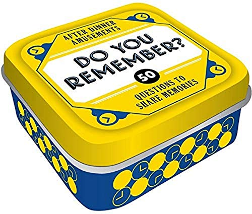 After Dinner Amusements: Do You Remember? 50 Questions to Share Memories (Conversation Game for...