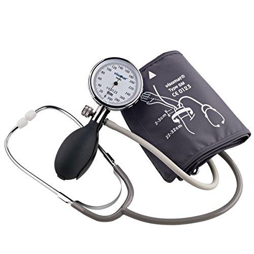manuelles blutdruckmessgeraet mit integriertem stethoskop