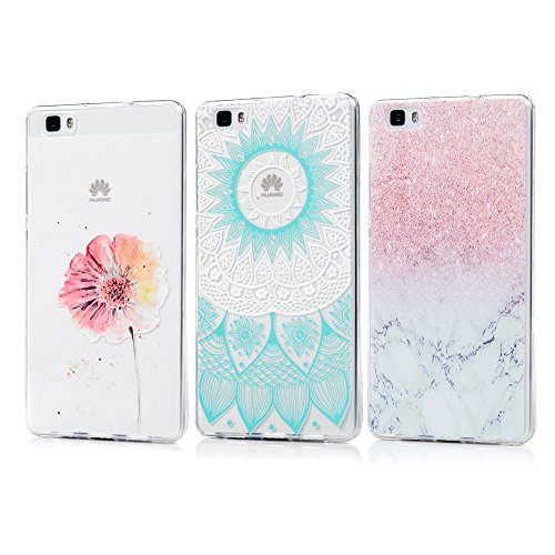 KASOS 3 x Fundas Huawei P8 Lite 2015/2016, Carcasa para Huawei P8 Lite 2015/2016 Case Silicona TPU Blanda Ultrafina