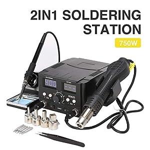 Z ZELUS 2 en 1 SMD Estación de Soldadura Digital 70W Soldador Electronica