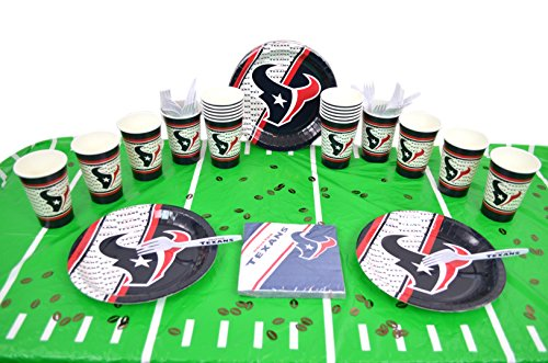 Official National Football Fan Shop Authentic NFL Tailgate Party Kit Bundle for 20 Fans - Table Setting and More (Houston Texans)
