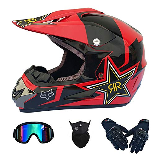 Casco Integral MTB para Adultos Casco de Motocross DH Certificado Motocicleta DH...