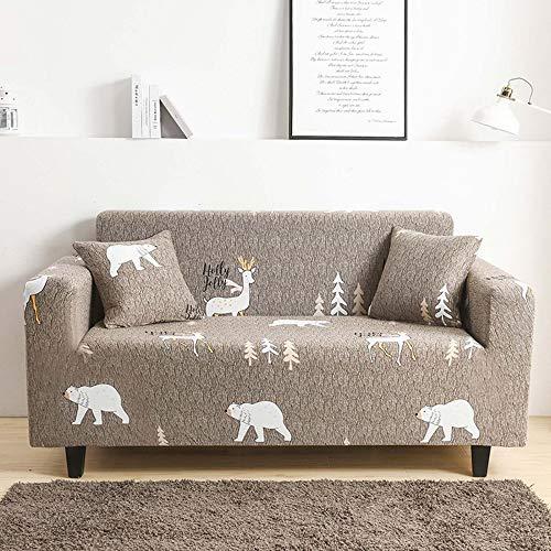 Funda de sofá elástica para sofá de 1 2 3 4 plazas, tela elástica estampada, funda ajustable universal para sillón y sofá, protector de muebles elastica / 16/3 Seater