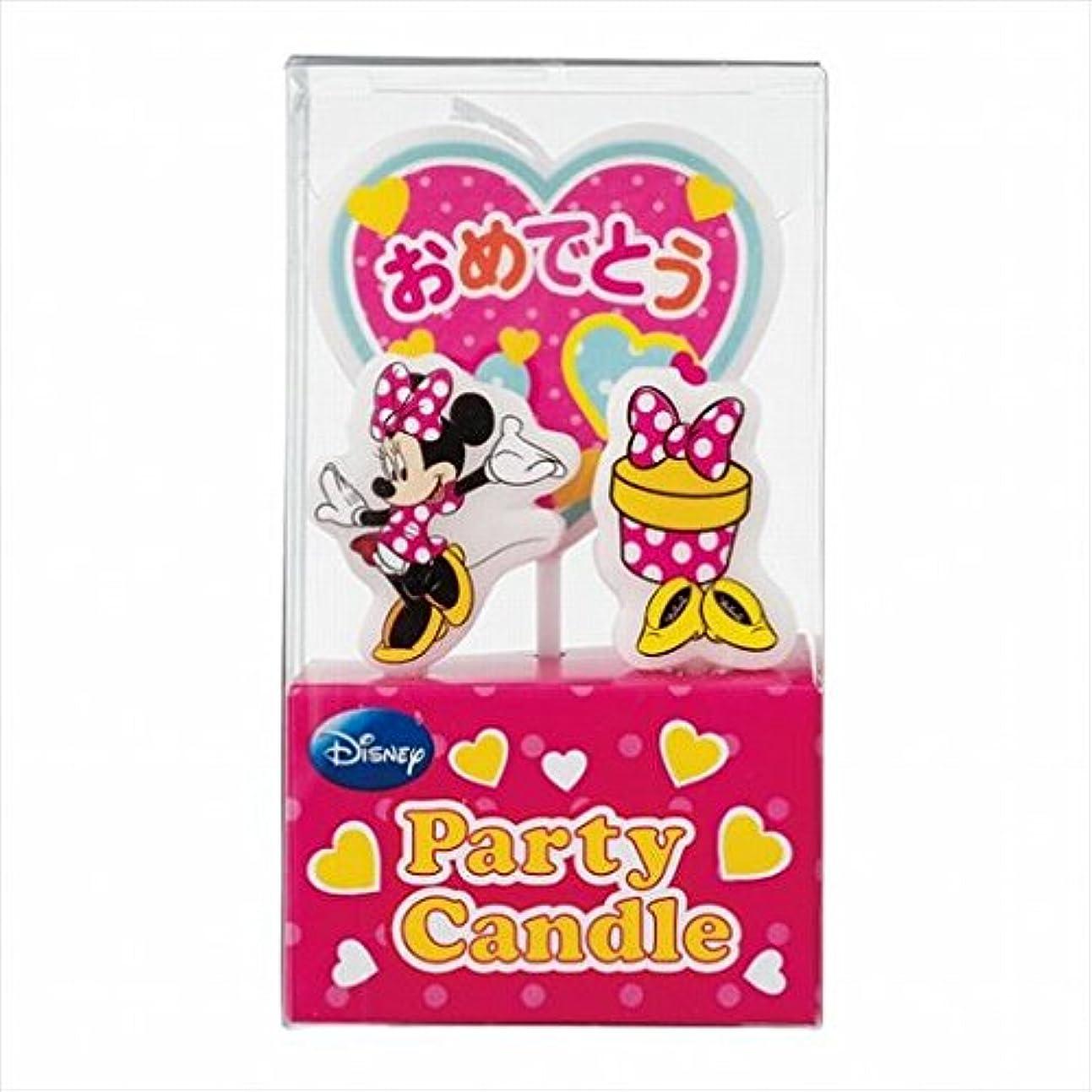 いつも抹消お互いディズニー( Disney ) ディズニーパーティーキャンドル【ケーキ用キャンドル】 「 ミニー 」