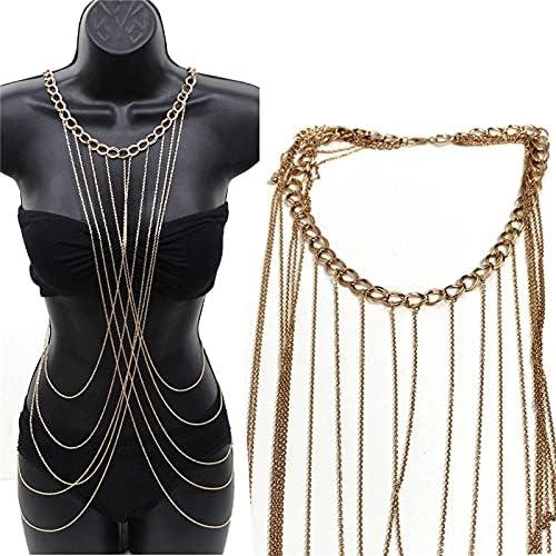 UXZDX Fashion Womens Sexy Regular store Summer Beach Tassel Waist Body Brand new F Chain