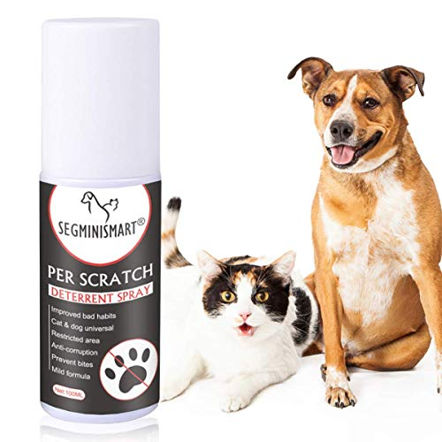 SEGMINISMART Cat Scratch Deterrent Spray, Cat Training Spray, Cat Scratching Training Spray, Suitable for Plants, Furniture, Floors and More with Rosemary Oil and Lemongrass, Protect Your Home