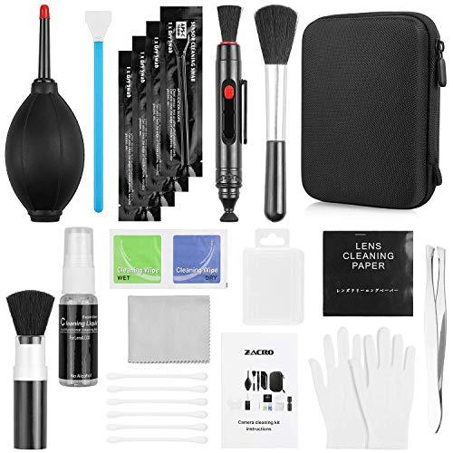 Zacro 14 Kit Pulizia Fotocamere Professionale per KooKen di pulizia per Obiettivo fotografico obiettivi ottici e fotocamere reflex digitali(Nikon,Pentax,Sony,iPad,Samsung NX,Telescopi e Binocoli)
