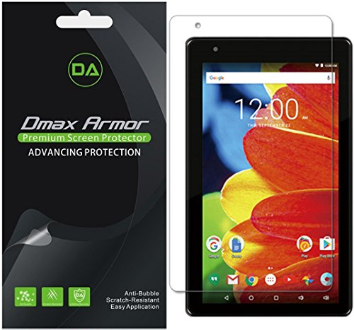 Dmax Armor [3-Pack] for RCA Voyager 7 inch Tablet 16GB Quad Core (RCT6873W42) Screen Protector, Anti-Bubble High Definition Clear Shield