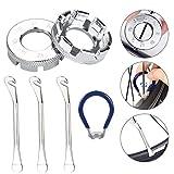 PERFETSELL Fahrrad Speichenschlüssel Größe 10-15 Speichenspanner Universal Nippelspanner mit Reifenheber Speichen Werkzeug Fahrradspeichen Schlüssel Fahrradwerkzeuge für Fahrrad Rad