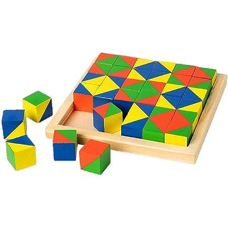 ニキーチン 積み木 36個入り 模様づくり 積木 ブロック おもちゃ 知育 遊び 知育遊び 知育玩具 学べる 3歳 4歳 5歳 6歳 子供 キッズ プレゼント 誕生日 教育玩具 ブラザー 模様作り 学習玩具 右脳 支援センター 児童クラブ