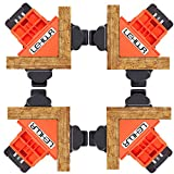 90 Degree Corner Clamps, Adjustable Right Angle Clamp for WoodWorking, Set of 4 Wood Clamps Corner Clip Fixer for Welding, Photo Framing, DIY Hand Tools