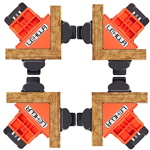 90 Degree Angle Clamps, Adjustable Right Angle Corner Clamp for WoodWorking, Set of 4 Wood Clamps Corner Clip Fixer for Welding, Photo Framing, DIY Hand Tools