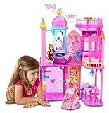 Mattel Barbie BLP42 - Barbie und die geheime Tür Großes Prinzessinnen-Schloss, inklusive Möbel und Zubehör -