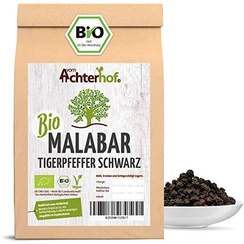 Malabar Pfeffer schwarz BIO ganz (250g) - Tigerpfeffer - Pfefferkörner für die Pfeffermühle