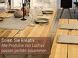 Luxflair XXL Tischläufer Tischband aus edlem Filz, modern, Graumeliert (+ weitere Farben), ca. 40x150cm, abwaschbar. Schlichtes Tisch-Accessoire - 4