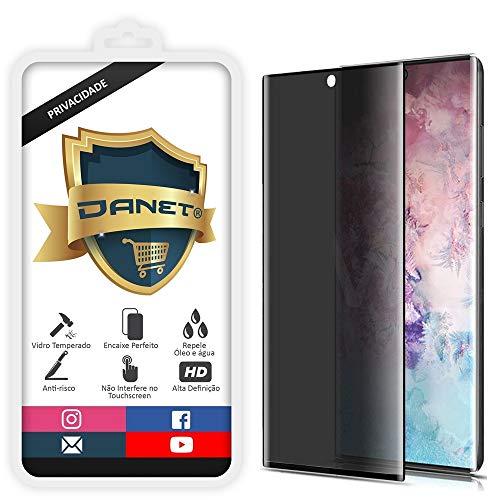 """Película De Privacidade Vidro Temperado Para Samsung Galaxy Note 10 Plus Tela 6.8"""" Polegadas Proteção Anti Impacto E Curioso Top Spy Premium 3d- Danet"""