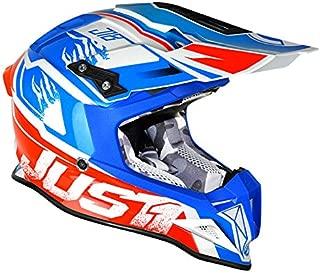 Just1 Dominator Adult J12 Off-Road Motorcycle Helmet - White/Red/Blue/Medium