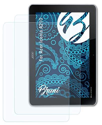 Bruni Schutzfolie kompatibel mit Acer Iconia A210 Folie, glasklare Displayschutzfolie (2X)