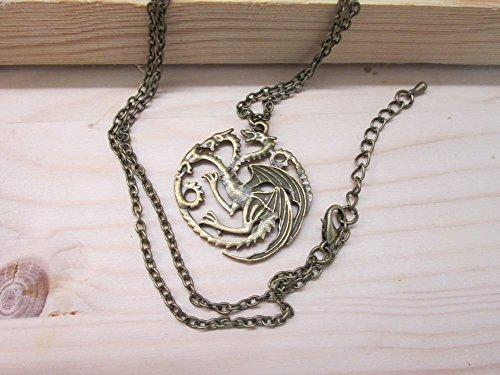 Game Of Thrones - Lied von Eis und Feuer Targaryen Drachen Abzeichen Wappen antikbronze(bronze)