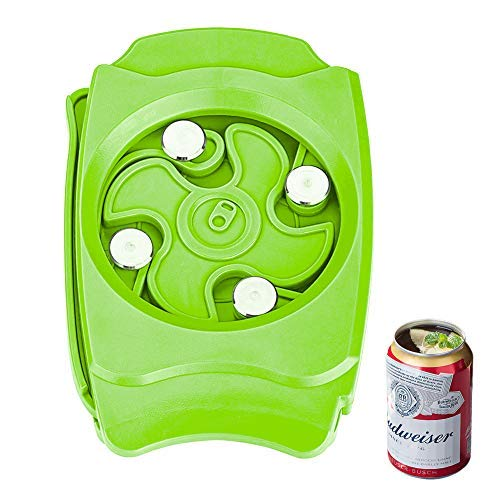 qipuneky, Apriscatole, Apriscatole Manuale, Apriscatole Nudo, Apriscatole,Multifunzione, Utensile da Cucina Lattina da 8-19 Once (Verde)
