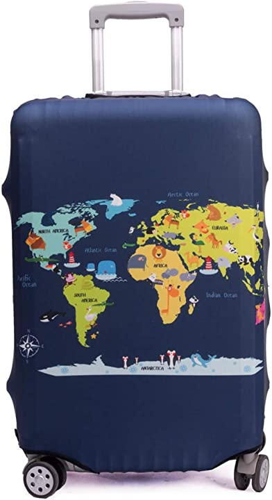 cover proteggi bagagli luggage cover,pop gatto (map, l (fit 26