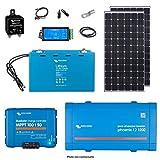 Victron Energy - Kit solar para camping (2 x 300 Wc (600 WC) Litio 100 Ah Phoenix 12/1200-1100000003991