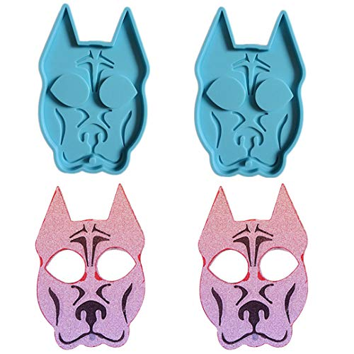 KHTAA 2pcs Self Defense Dog Resin Mold Keychain Pendants Epoxy Jewelry Casting Mold Polymer Clay Resin Baking Mould for DIY DIY Crafts Making