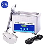 Digital Ultrasonic Jewelry Cleaner with Digital Timer 700mL 42KHz Ultrasonic Cleaner for Eyeglasses