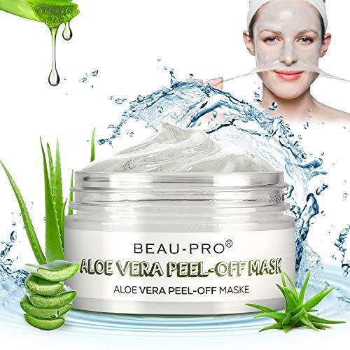 Peel Off Maske,Blackhead Remover Maske Aloe Vera Gesichtsmaske,Natural & Mild Mitesser Maske für Beruhigende und pflegende Feuchtigkeits,Gegen unreine Haut,Akne,Fettige Haut& Mitesser