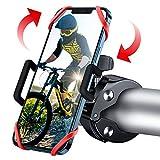 WOEOA Supporto Telefono Bicicletta, [2020 Nuovo] Porta Cellulare Bici 360° Rotabile Universale,Supporto Smartphone per Bici,Moto Ciclismo, MTB,GPS Navigatore Altri Dispositivi (Red)