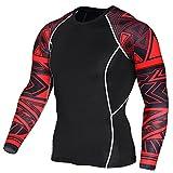 コンプレッションウェア パワーストレッチ アンダーウェア オールシーズン 長袖 ラウンドネック スポーツシャツ UVカット・吸汗速乾