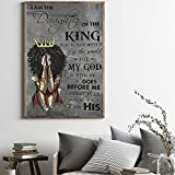 African American Black Girl Wall Art Abstract Black Queen Inspirational Picture Canvas Painting Wall Decor Contemporary Artwork Home Decoration For Living Room Bedroom Office Unframed (12X18inch Unframed)