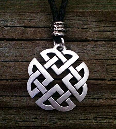 Celtic Shield Knot Pewter Pendant -Irish/Scottish/Handcrafted
