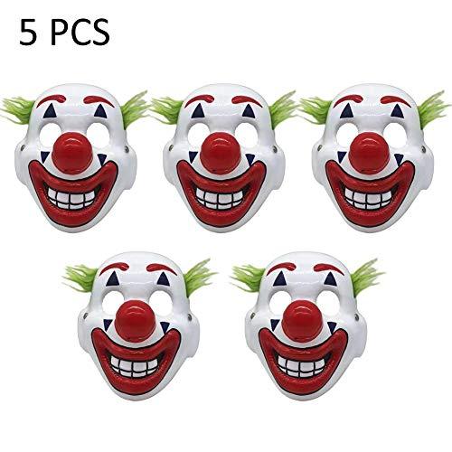 bearivt Máscara de Halloween Joker Máscara Arthur Fleck Cosplay DC Movie Payaso Máscara