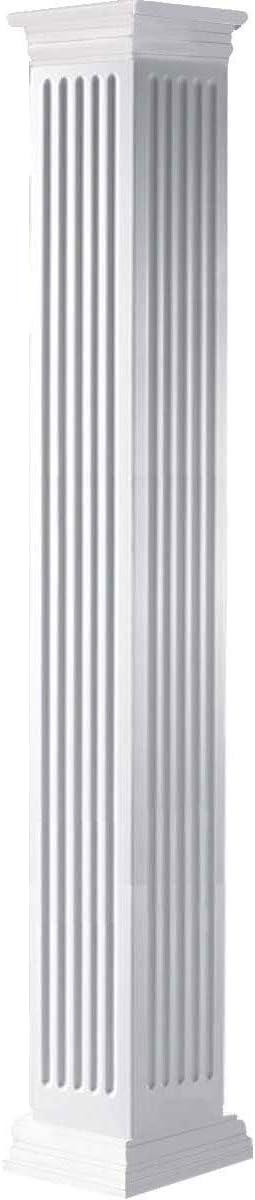 Ekena Millwork CC1006ENFPRPR White Column Sale special price Max 43% OFF