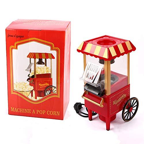 AZCSPFALB Máquina de Palomitas 1100W Retro, Aire Caliente, Sin Grasa y Saludable, Maquina Palomitas de Maiz para Niños y Adultos, Máquina de Palomitas de Maíz Gourmet - 24 * 18 * 40cm
