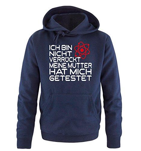 Comedy Shirts Coupe Big Bang Theory – Je ne suis Pas Fou – Sweat-Shirt à Capuche – Taille S – XXL différents Coloris. - Bleu - Large