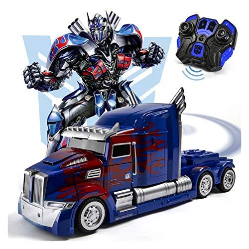 YUIOP Transformers Roboter Auto Spielzeug Kinder, Modelltransformation Action-Figur Spielzeug Geschenk Kinder Optimus Prime 28 cm