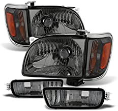 For Smoke 01-04 Toyota Tacoma Pickup Truck Headlights 4PCS Front Lamps + Corner Signal Lights 2 Pieces Set