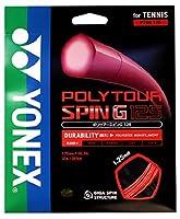 ヨネックス(YONEX) 硬式テニス ストリングス ポリツアースピン G125 (1.25mm) PTGG125 オレンジ