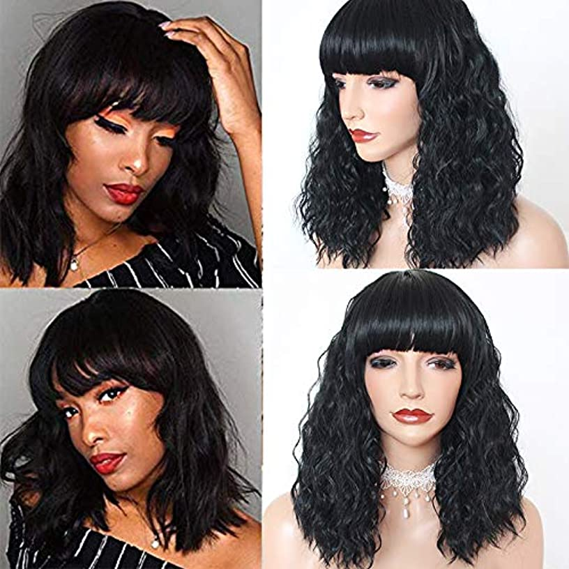 PlatinumHair Long Braided Hair Synthetic Lace Front Wigs Glueless Black Color Long Braids with Baby Hair Heat Resistant Free Part Braided Wig for Black Women (Bob Loose Curls)