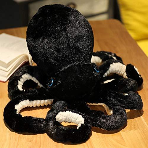Shability Pulpo Realistas Creativos Juguete De Felpa Apoyos De La Foto Animal Marino Muñeco De Peluche Cojín del Respaldo Almohadilla del Regalo De Cumpleaños yangain (Color : Black, Size : 45cm)
