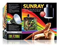 Metal Halide Fixture with ballast and bulb Optimal levels of visible light, heat and UVA and UVB Closely approximates natural sunlight Easy to install and fully adjustable Can be safely used on smaller terrariums