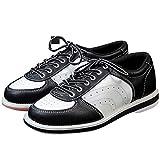 FJJLOVE Herren Bowlingschuhe, Leichte Schüsseln Schuhe rutschfeste Komfort Bowling Trainer Lace Up...