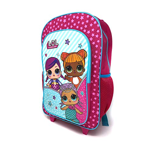 Children's Character Luggage Deluxe Wheeled Trolley Backpack Suitcase Cabin Bag School (L.O.L Surprise!)