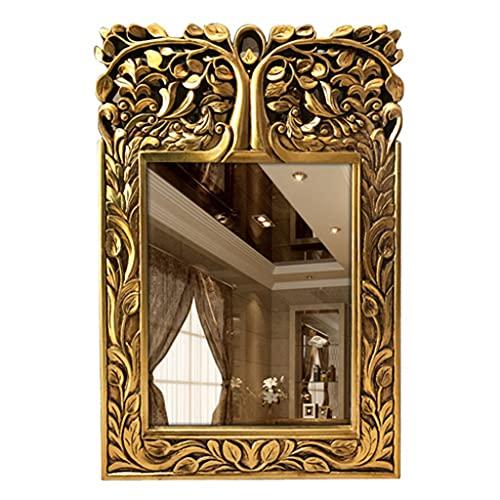 Muur Opknoping Decoratieve Spiegel Antieke Europese Stijl Badkamer Spiegel Rechthoek Ijdelheidspiegel Voor Woonkamer…