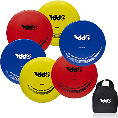 Disc Golf Starter Set | Beginners Flying disc Golf Set Include Fairway Driver MidRange Putter Disc and Disc Golf Carry Bag6 Pack