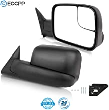 Ineedup Tow Mirrors Towing Mirrors Fit for 1994-2001 Dodge Ram 1500 2002 Dodge Ram 2500 Dodge Ram 3500 with Left Right Side Manual Operation Non-Heated Without Turn Signal Light