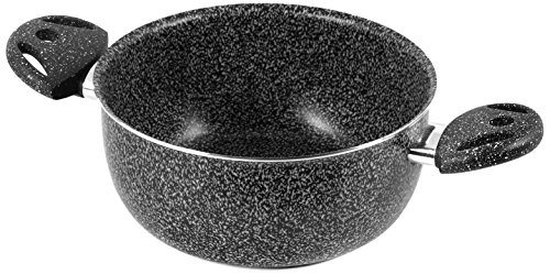 Home Casseruola Due Manici Antiaderente Stone Cm22 Pentole E Preparazione Cucina, Antracite, 22 cm